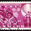 Postage stamp Denmark 1962 Violin Scroll, Leaves, Lights and Bal - ストック写真
