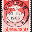 Postage stamp Denmark 1965 Ballet Dancer - ストック写真