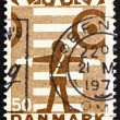 Postage stamp Denmark 1970 School Safety Patrol - ストック写真