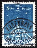 Postage stamp Denmark 1973 Sextant, Stella Nova, Tyho Brahe — Stock Photo