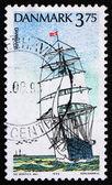 Postage stamp Denmark 1993 Danmark, Training Ship — Stock Photo