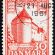 Stock Photo: Postage stamp Denmark 1953 Nyborg Castle