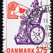 Postage stamp Denmark 1992 Love Letter, by Phillip Stein Jonsson — Stock Photo