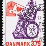 Postage stamp Denmark 1992 Love Letter, by Phillip Stein Jonsson — Stock Photo