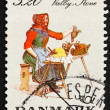 Stock Photo: Postage stamp Denmark 1989 Womfrom Valby