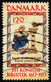 Postage stamp Denmark 1973 St. Mark, from 11th Century Book of D — Stock Photo