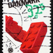 Postage stamp Denmark 1989 Lego Blocks - Stock Photo