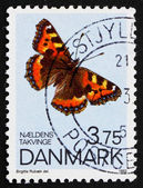 Postage stamp Denmark 1993 Small Tortoiseshell, Butterfly — Stock Photo