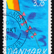 Postage stamp Denmark 1994 Kite in the sky — Foto de Stock