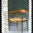 Постер, плакат: Postage stamp Denmark 1991 Chair by Hans Wegner