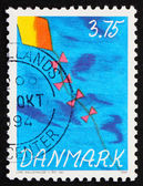 Posta pulu Danimarka 1994 uçurtma gökyüzünde — Stok fotoğraf