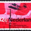 Postage stamp Netherlands 1968 Wright A from 1909 and Cessna spo — Foto de Stock