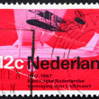Stock Photo: Postage stamp Netherlands 1968 Wright from 1909 and Cessnspo