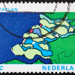 Royalty-Free Stock Photo: Postage stamp Netherlands 1972 Map of Delta, Delta Plan