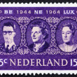 Постер, плакат: Postage stamp Netherlands 1964 Royal rulers in the Benelux