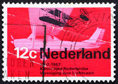 Postage stamp Netherlands 1968 Wright A from 1909 and Cessna spo — Stock Photo