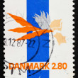 Postage stamp Denmark 1986 Abstract by Lin Utzon - Stock Photo