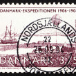 Foto de Stock  : Postage stamp Denmark 1994 Expedition Ship 1906-1908