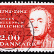 Postage stamp Denmark 1982 Steen Steensen Blicher - Stock Photo