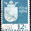 Postage stamp Netherlands 1964 Arms of Groningen University - Stock Photo