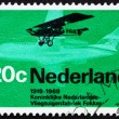 Postage stamp Netherlands 1968 Fokker F.2 from 1919 and Friendsh - Stock Photo