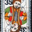 Postage stamp Netherlands 1975 Playing Card - Stock Photo