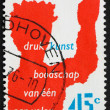 Postage stamp Netherlands 1976 One Communicating with Many — Stock Photo