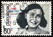 Postage stamp Netherlands 1980 Anne Frank, victim of the Holocau — Stock Photo