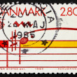 Postage stamp Denmark 1985 Musical Staff — Stock Photo #8725431