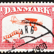 Postage stamp Denmark 1981 BellancJ-300, plane from 1931 — Stock Photo #8725484