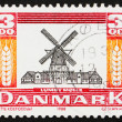 Postage stamp Denmark 1988 Lumby Windmill from 1818 — Stock Photo #8725664