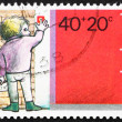 Postage stamp Netherlands 1978 Boy Ringing Doorbell — 图库照片