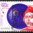 Postage stamp Netherlands 1992 Christopher Columbus and Globe — Stock Photo #8729070
