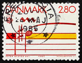 Postage stamp Denmark 1985 Musical Staff — Stock Photo