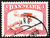 Postage stamp Denmark 1981 Bellanca J-300, plane from 1931 — 图库照片