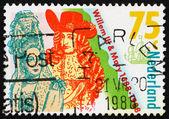 Postage stamp Netherlands 1988 Coronation of William III and Mar — Stock Photo