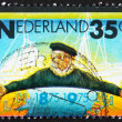 Stock Photo: Postage stamp Netherlands 1975 Emblem of Zeeland Steamship Compa