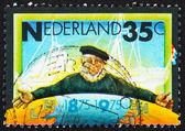 Postage stamp Netherlands 1975 Emblem of Zeeland Steamship Compa — Stock Photo