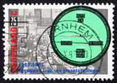 Postage stamp Netherlands 1987 Auction, Bidding and Price Indica — Stock Photo