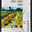 图库照片: Postage stamp Netherlands 1990 Green Vineyard, Detail