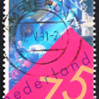 Postage stamp Netherlands 1991 Laser Video Disk Experiment - Stock Photo