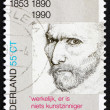 Постер, плакат: Postage stamp Netherlands 1990 Self portrait Vincent van Gogh