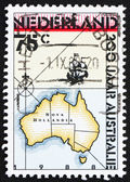 Postage stamp Netherlands 1988 Discovery of Australia — Stock Photo