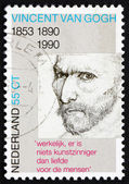 Postage stamp Netherlands 1990 Self-portrait, Vincent van Gogh — Stock Photo