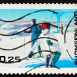 Postage stamp Finland 1968 Winter Tourism in Finland — Stock Photo
