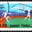 Postage stamp Finland 1971 Athletes in Helsinki Stadium — Stock Photo #8829104