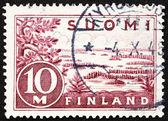Francobolli finlandia 1930 lago saima — Foto Stock