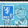 Royalty-Free Stock Photo: Postage stamp Norway 1955 Stamp Reproduction