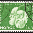 Postage stamp Norway 1961 Frederic Passy and Henry Dunant — Stock Photo