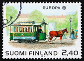 切手フィンランド 1988年馬-引かれたトラム — ストック写真